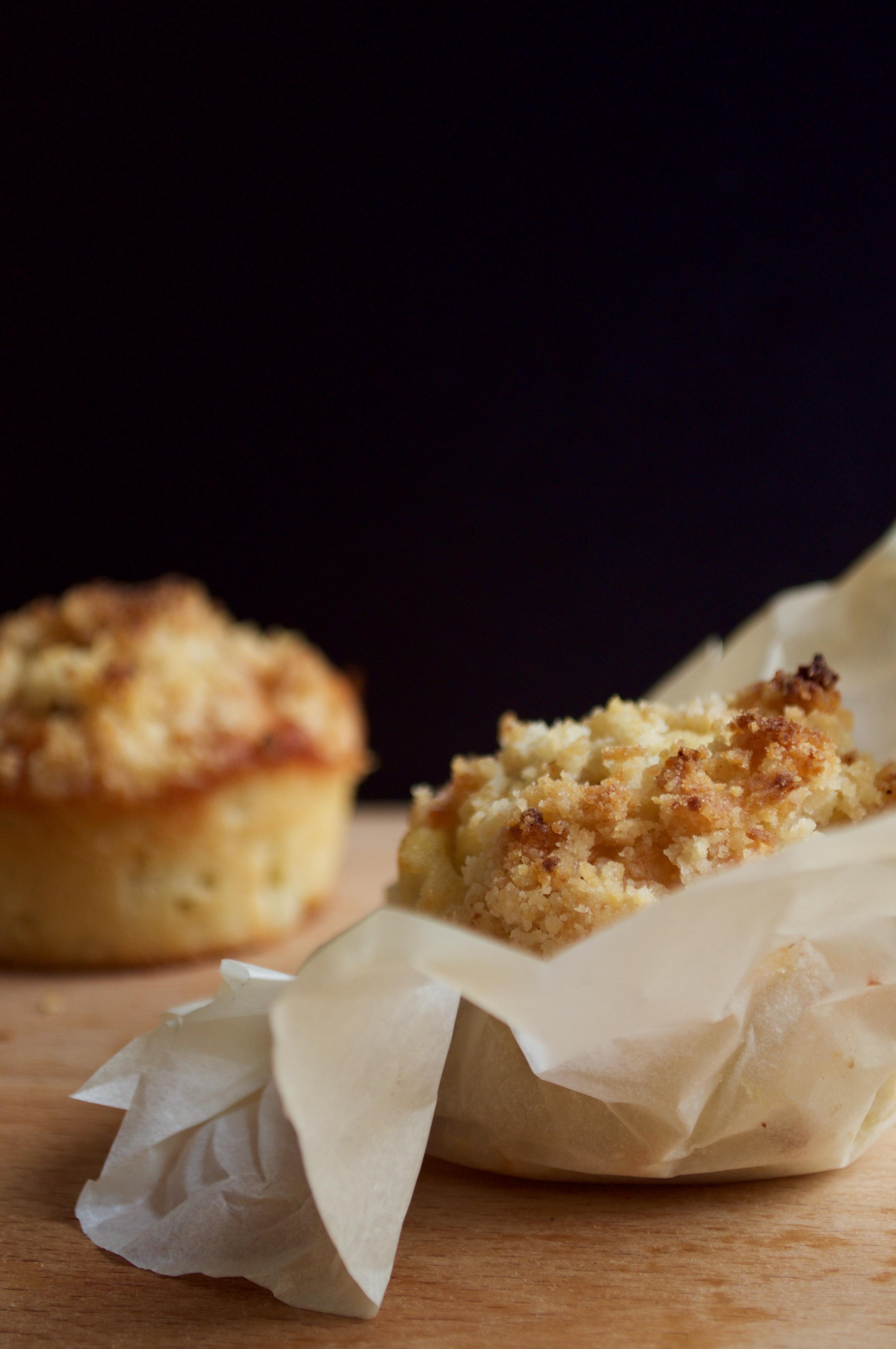 Muffin poire crumble sans gluten et sans lait